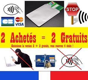 A Pochette Etui Anti Piratage Protection Carte Bleue Bancaire Sans