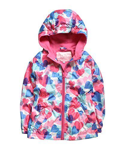 OLEK Girls Rain Jackets Lightweight Waterproof Hooded Jackets Outdoor Windproof Coat