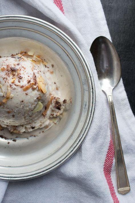 Coconut Almond Dark Chocolate Ice Cream {Vegan} by Taste Love and Nourish
