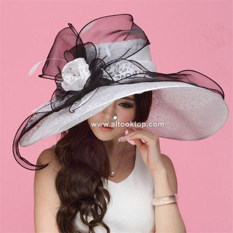 d5e4d29b182 White kentucky derby hats for tea party dresses ladies church hats for  black women summer sun