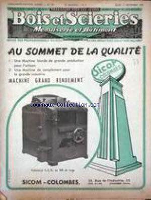 Bois Et Scierie No 35 Du 11 09 1952 Menuiserie Et Batiment Au Sommet De La Qualite Machine Grand Rendeme Sciences Du Langage Sociolinguistique Didactique