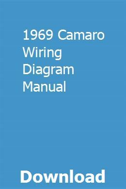 1969 Camaro Wiring Diagram Manual Pdf Download Full Online Smart