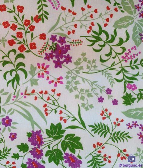 Tela de Mantel Resinado Antimanchas Flores Lilas. Mezcla Algodón/Poliester resinado y teflonado Ancho 155 cm.