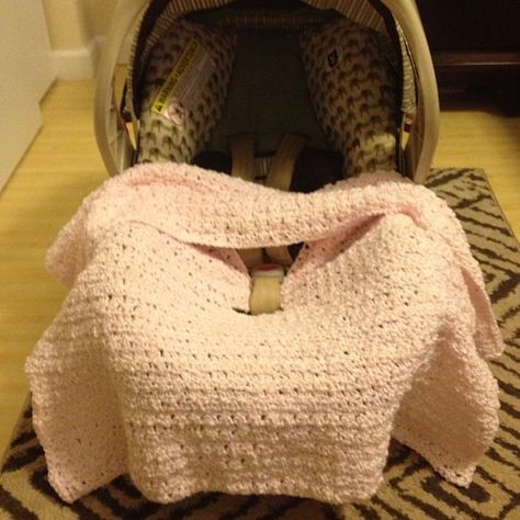 "My life before I ""Kick the Bucket"": Crocheted Car Seat Blanket"