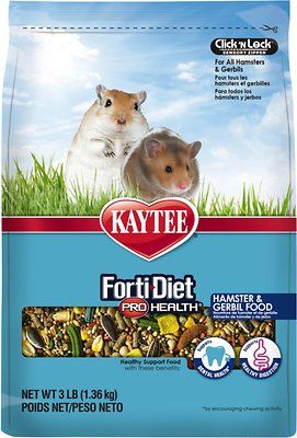 Kaytee Forti Diet Pro Health Gerbil Hamster Food 3 Lb Bag Chewy Com Gerbil Hamster Food Food Animals