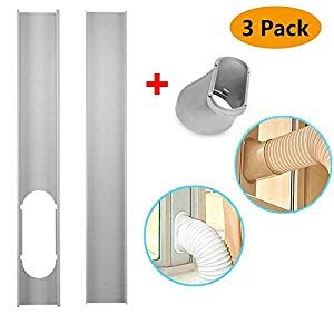 Scarecrew Window Slide Kit Plate Window Vent Adapter Portable Ac Vent Kit Exhaust Hose Connector Kit 2pcs Window S With Images Portable Air Conditioner Portable Ac Ac Vent