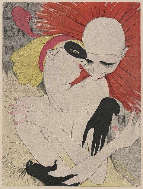 Illustration by Walter Schnackenberg Fasching (Carnival), Simplicissimus. Art Inspo, Kunst Inspo, Inspiration Art, Art And Illustration, Cover Art, Vintage Posters, Vintage Art, Kunst Poster, Harlem Renaissance