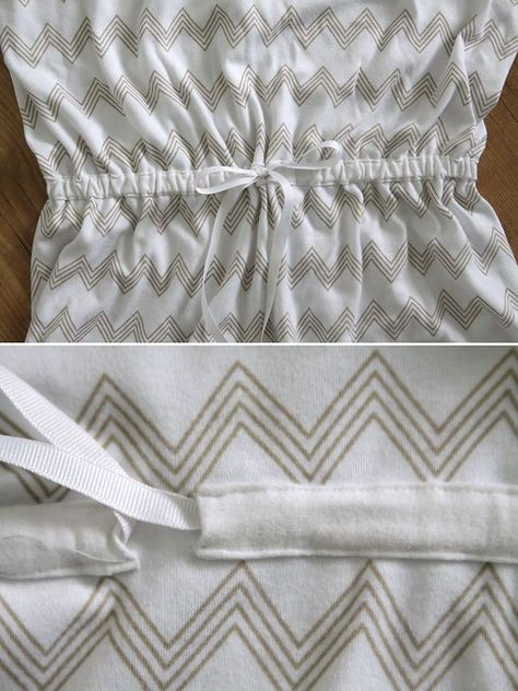 Learn how to sew a cute, comfy maxi dress (with sleeves!) using just a t-shirt as a guide - no pattern needed! How to make a maxi dress.