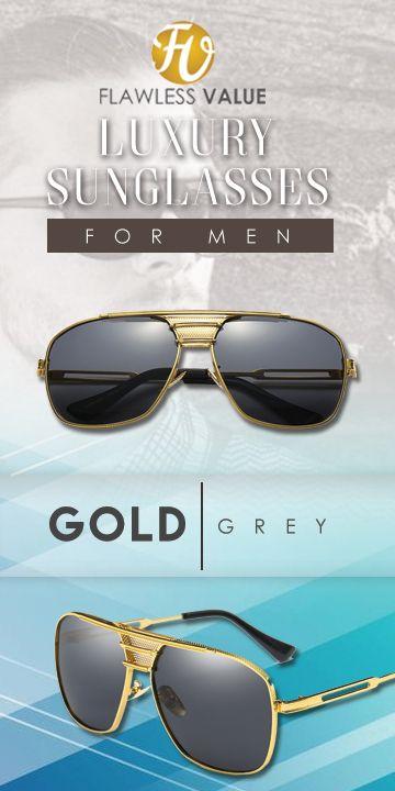 166ca7456491 M.C Sunglasses Gold Alloy Square Sunglasses -Gold Grey Men's affordable top  brand designer style fashion accessories eyewear glasses for men , for  boyfriend ...