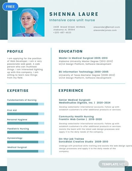 Free Nursing Student Cv Template Word Doc Psd Apple Mac Pages Publisher Cv Template Student Curriculum Vitae Template Cv Examples