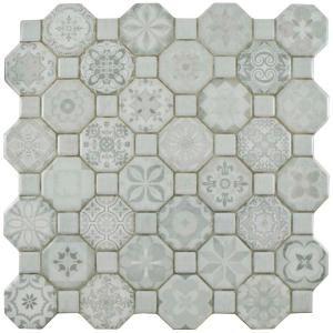 Merola Tile Take Home Sample Tessera White 12 1 4 In X 12 1 4 Ceramic Tile S1fosteswt The Home Depot In 2020 Floor And Wall Tile Ceramic Floor Wall Tiles
