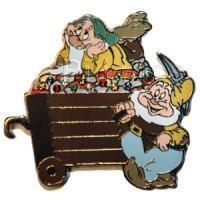 Vintage Disney Snow White/'s Dopey 60th Anniversary trading pin 1997
