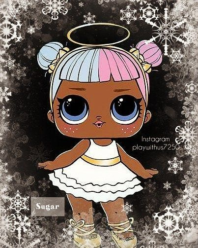 Here We Have Lol Surprise Doll Sugar She S Adorable And Sweet Wallpaper Art Made By Us Using Photo Lab Hope You Guys Like Thank Lol Dolls Child Doll Dolls