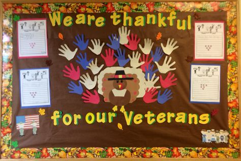 Thanksgiving Veteran's Day Bulletin Board