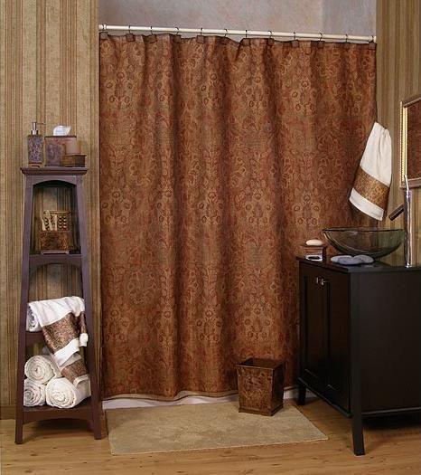 New Blonder Expressions Classic Burl Plain Shower Curtain Blonder