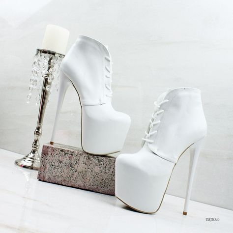 7c973b9e08f Lace Up White High Platform Booties – Tajna Club