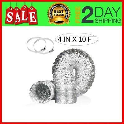 Sponsored Link Aluminum Foil Dryer Vent Hose 10ft 4 Inch Flexible Duct Exhaust Hose In 2020 Dryer Vent Hose Dryer Vent Vent Duct