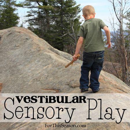 Vestibular Sensory Play - Finding balance beams in nature