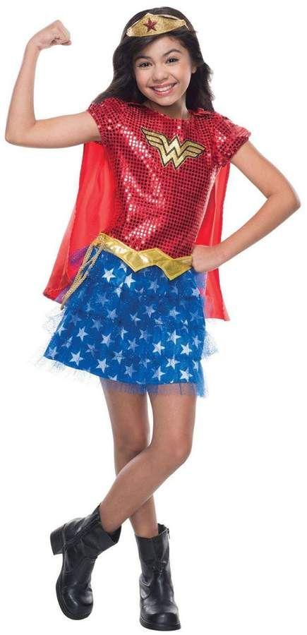 Wonder Woman Sequin Child S Halloween Costume Sponsored Affiliate Sequin Woman Child Wonder Woman Kostume Madchen Kostume Weibliche Kostume