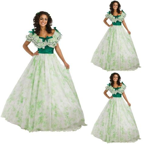 Historical!19 Century Vintage Costumes 1860S Victorian Gothic Civil War  Southern Belle Gown Dress a15b468292fa