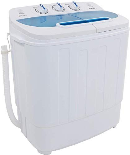 ROVSUN Full-Automatic Washing Machine Compact 13lbs Portable Washer w// 10 Programs 8 Water Levels RVs and Dorm Perfect for Apartments