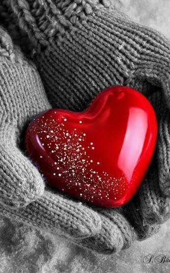 #hands #winter #love #red #hearts #heart #romantic #romance