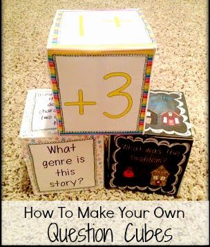 Step-by-step instructions on how to make your own question cubes.