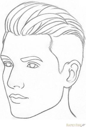 Drawings Of Boys Easy : drawings, RapidFireArt, Drawing, Tutorial, Face,, Drawing,