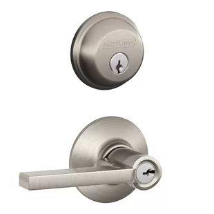 Schlage Lock Company FB50VPLY619 Deadbolt//Knob Stn Nkl