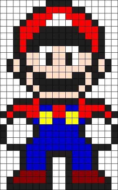 Mario Perler Bead Pattern / Bead Sprite - Sprite - Ideas of Sprite #Sprite -  Mario Perler Bead Pattern / Bead Sprite