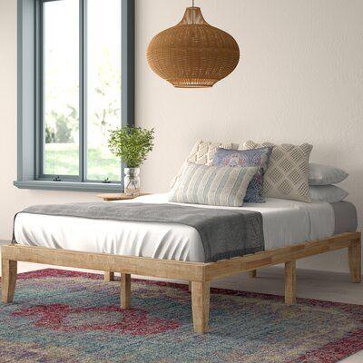 Hashtag Home Maggie Platform Bed Wayfair In 2020 Wood Platform Bed Platform Bed Bed Frame