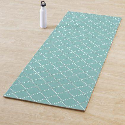 Abstract Geometric Pattern Blue And White Yoga Mat Zazzle Com