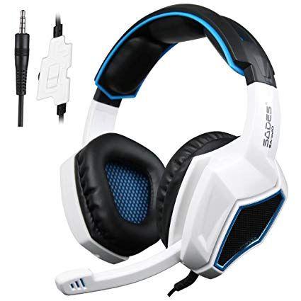 8d2a9bba859 Sades Xbox One PS4 Gaming Headset Over Ear Auriculares con Micrófono para  Mac / PC / Laptop / Xbox 360 - Negro / Blanco