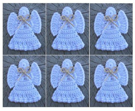 Crochet Christmas ANGEL Ornament Pattern Crochet Ornament | Etsy