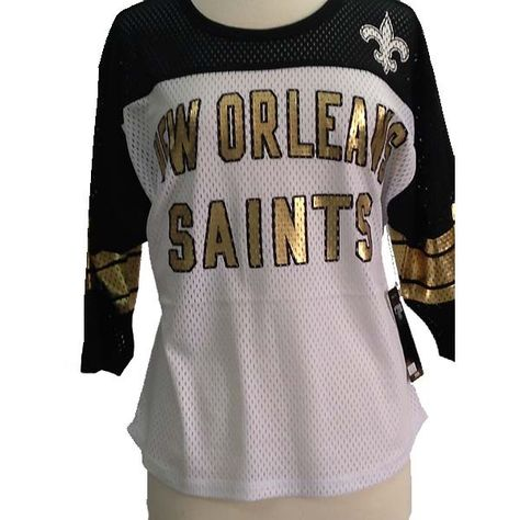 """New+Orleans+Saints+""""All+Pro""""+Open+Mesh+Ladies'+Football+Top+by+G-III"""
