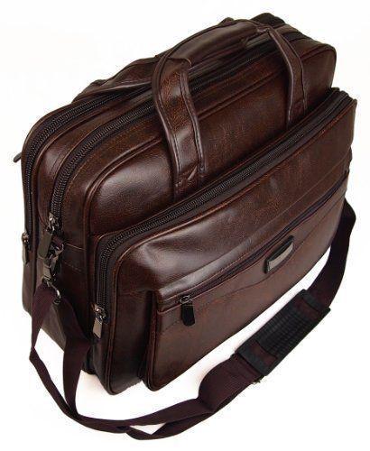 Faux Leather Men's  Briefcase Messenger Shoulder Tote Laptop Bag Backpack