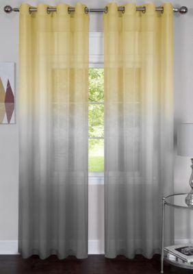Single Grommet Rainbow Window Curtain Panel Panel Curtains Curtains Sheer Curtain Panels