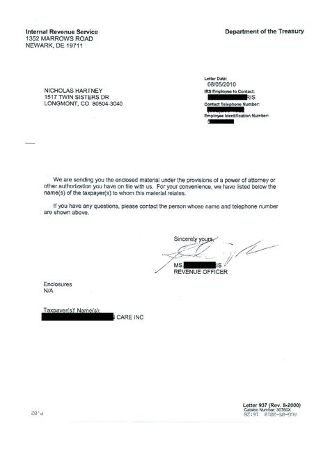 irs letter templates