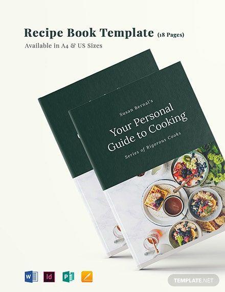 Recipe Book Template Word Doc Indesign Apple Mac Pages Publisher Recipe Book Templates Recipe Book Free Recipe Book