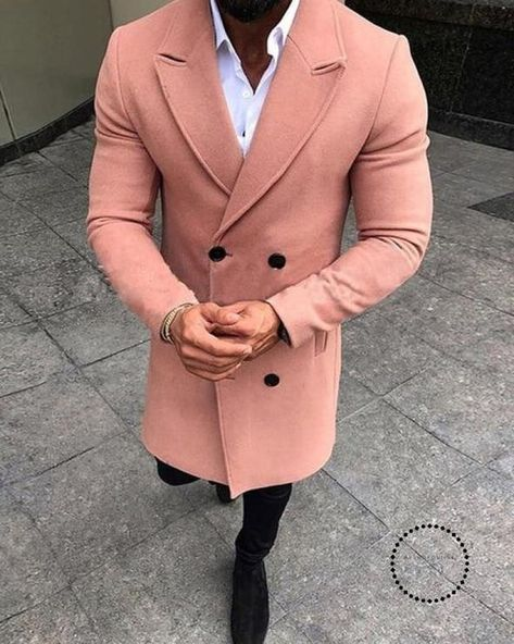 ccd57f63892 Mens Trench Coat New Fashion Designer Men Long Autumn Winter  Double-Breasted Windproof Slim Plus