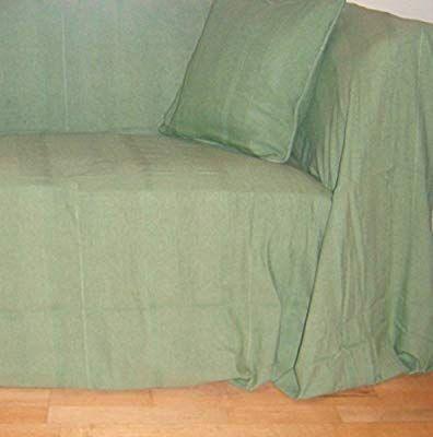 Cotton Sage Green Throw 225x350 Cms