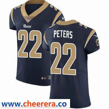 Nike Los Angeles Rams 22 Marcus Peters Navy Blue Team Color Men S Stitched Nfl Vapor Untouchable Elite Jersey Nfl Jerseys Jersey Nfl