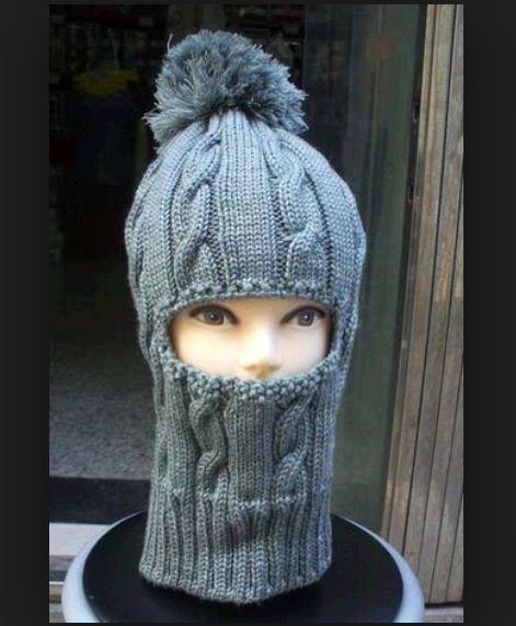 Шапка-шлем для всех вязаная сп