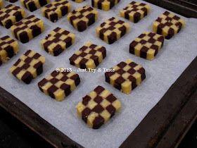 Checkerboard Cookies Si Kue Papan Catur Kue Kering Makanan Resep Kue