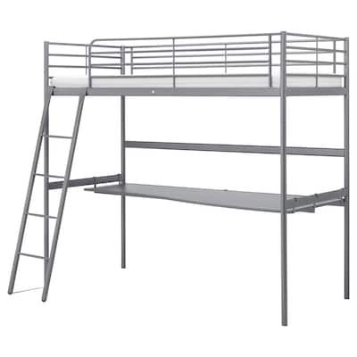 Stuva Fritids Loft Bed With 4 Drawers 2 Doors White Light Pink Twin Ikea In 2020 Loft Bed Frame Loft Bed Bed Frame