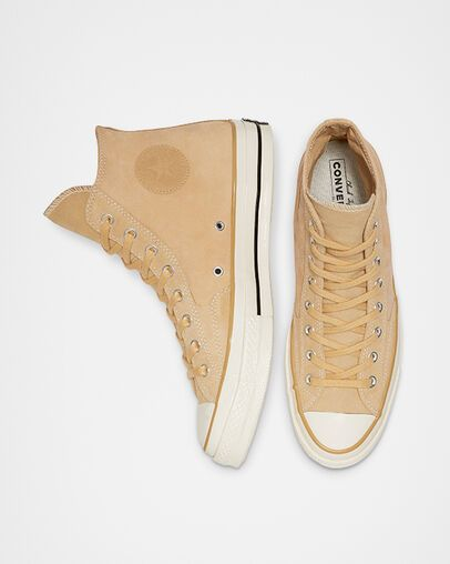 Chuck 70 Leather High Top Pale Wheat
