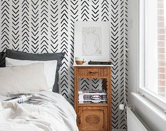 Removable And Damage Free Wallpaper Is The Answer To Your Household Desires Our Wallpaper Is A Fun And E Daisy Wallpaper Silver Wallpaper Bedroom Bedroom Wall