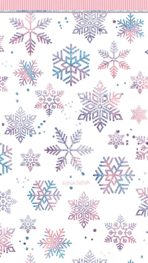 Watercolor Snowflakes Digital Papers, Blush and Blue Seamless Patterns, Glitter Snow Winter, Snowflake Wallpaper, Christmas Phone Wallpaper, Snowflake Background, Holiday Wallpaper, Christmas Background, Winter Iphone Wallpaper, Christmas Phone Backgrounds, Cool Wallpaper, Pattern Wallpaper