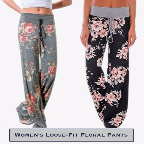 Step up your style game with highly lightweight fabric, unique floral pattern adorned, loose fit pants. Discover your summer fun with these ultra comfortable and carefully crafted casual wear.