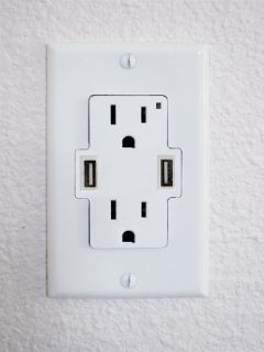 By Chris Scott Barr How many gadgets do you have that recharge via USB? Read more Add USB Ports To Your Wall Outlets Home Design, Interior Design, Design Ideas, Br House, House Tent, Just In Case, Just For You, Wall Outlets, Kitchen Outlets